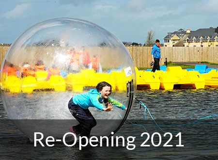 Water Zorbing at Tralee Bay Wetlands
