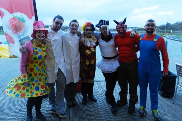Staff in Halloween costume at Tralee Bay Wetlands